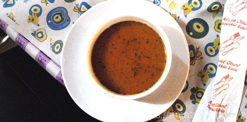 グリーンツアーのランチ スープ