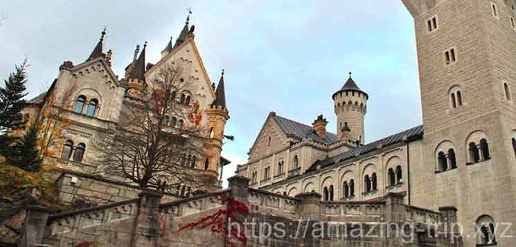 ノイシュヴァンシュタイン城の景観