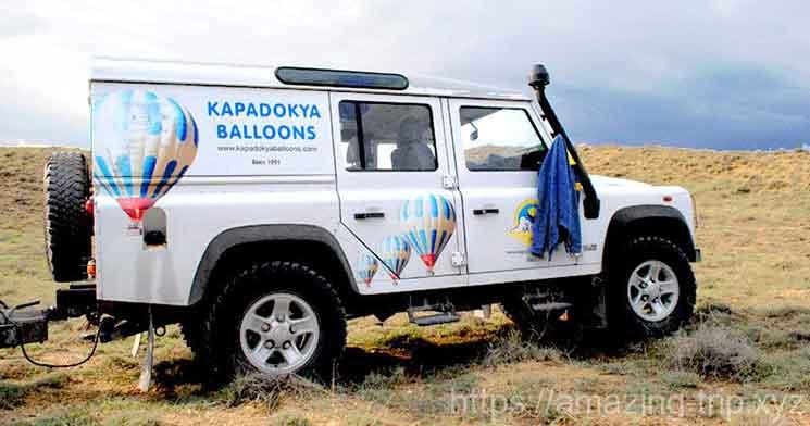 カッパドキアバルーン社の送迎車