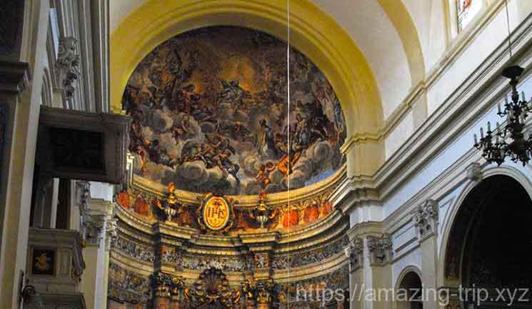 「聖イグナチオ」の生涯を描いたフレスコ画