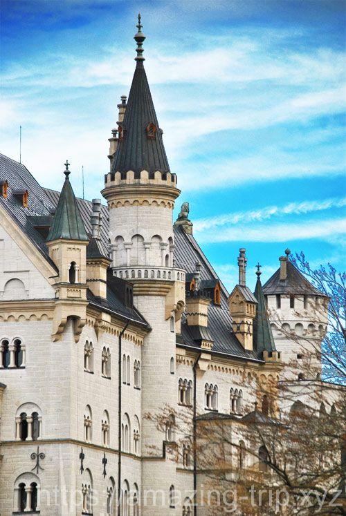 ノイシュヴァンシュタイン城の尖塔