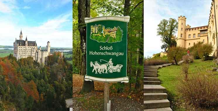 ノイッシュヴァンシュタイン城とホーエンシュヴァンガウ