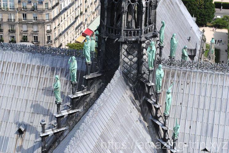 ノートルダム大聖堂 屋根の彫像