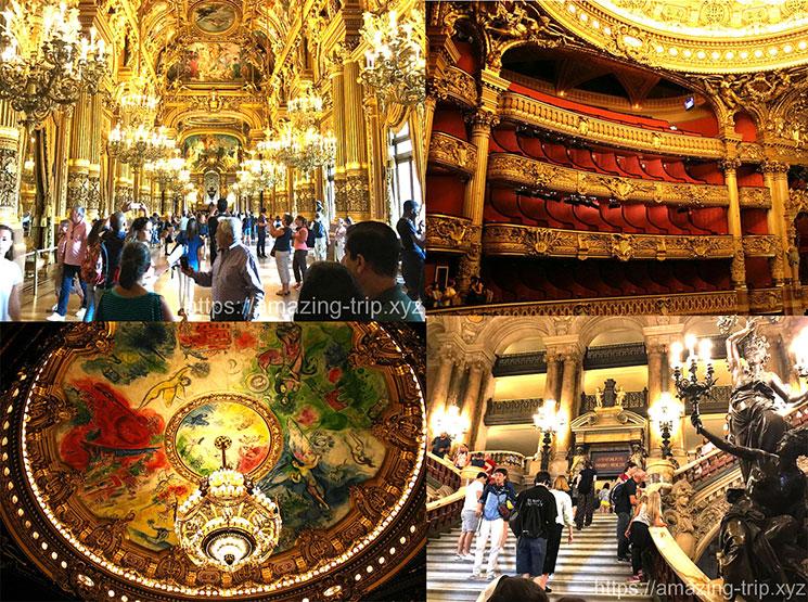 オペラ座 館内の景観と装飾