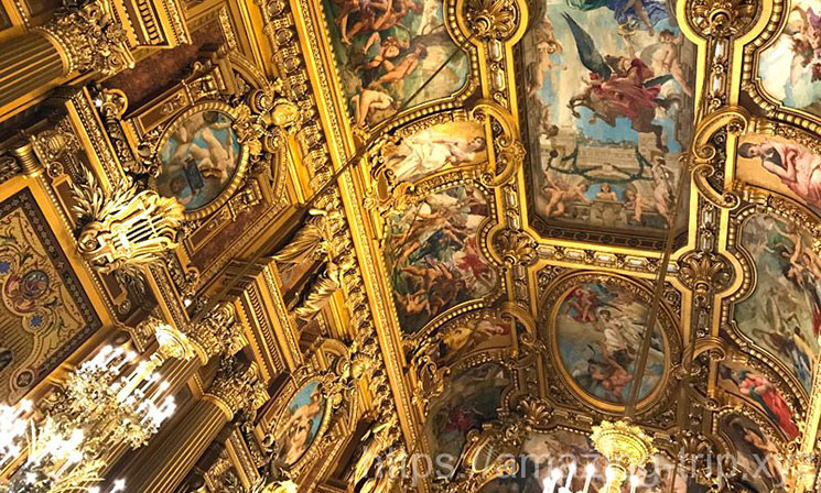 グラン・フォアイエの天井画(ポールポードリー作)