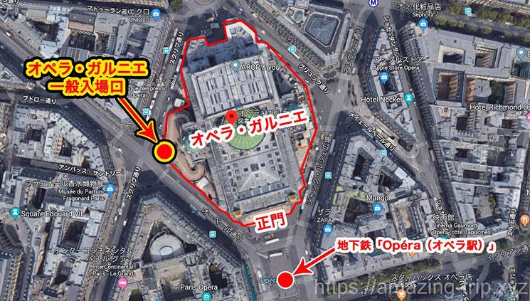 オペラ・ガルニエ周辺地図