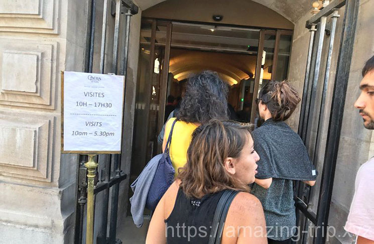 オペラ・ガルニエ館内への入場口