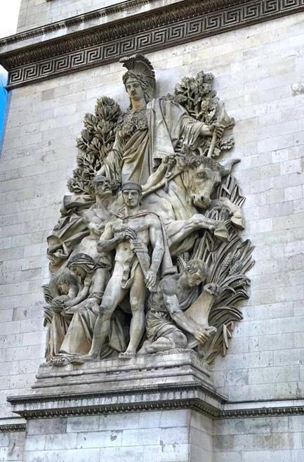 凱旋門 支柱の彫刻「平和」