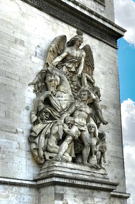 凱旋門 支柱の彫刻「抵抗」