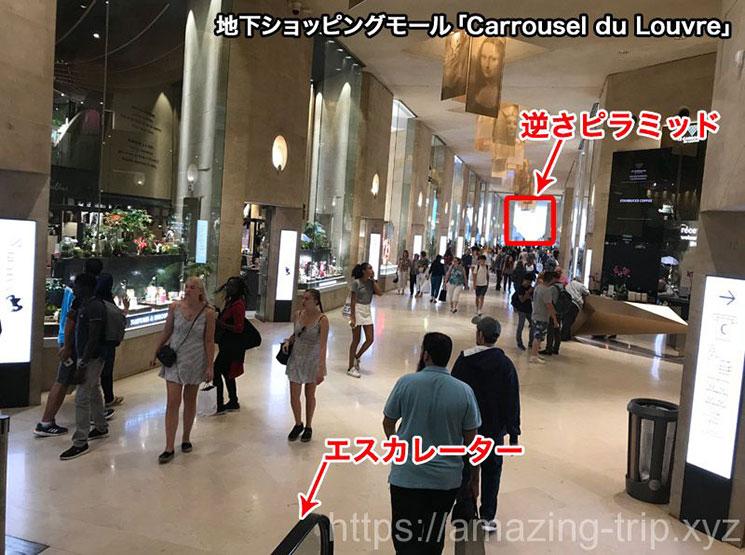 「Carrousel du Louvre(カルーゼル・デュ・ルーブル)の景観」