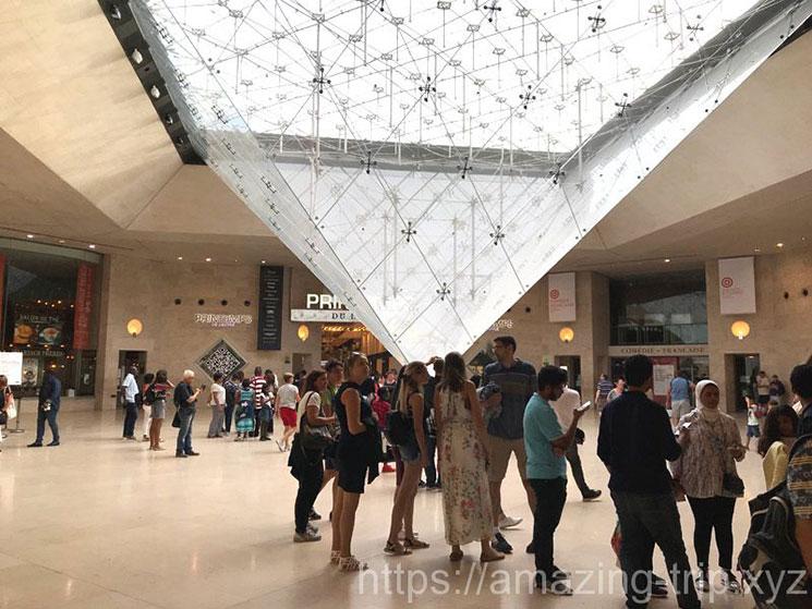 ルーブル美術館地下の逆さピラミッド
