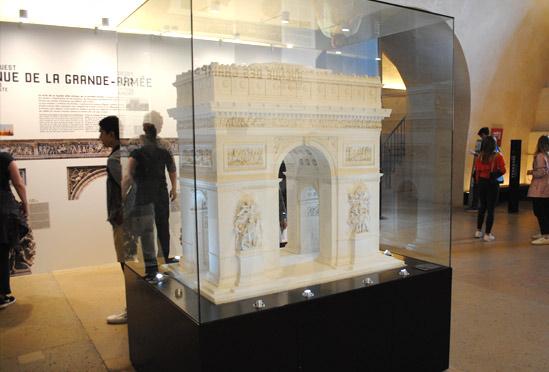 凱旋門の模型