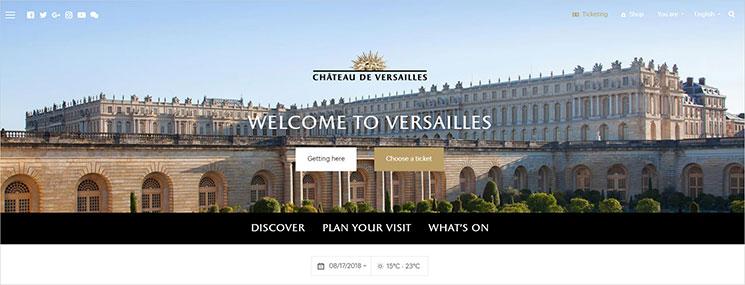 ヴェルサイユ宮殿のHP