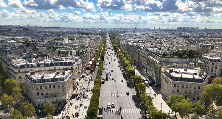 パリ市内の街並み