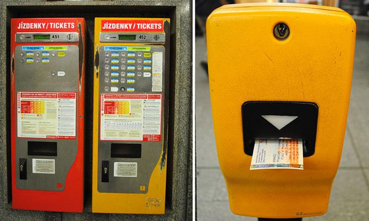 左がチケットの券売機。右がチケットの刻印機になります。