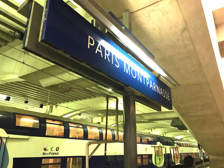 モンパルナス駅 構内の標識