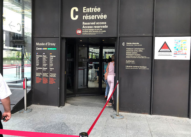 チケット保有者の優先入場口「Entrance C」