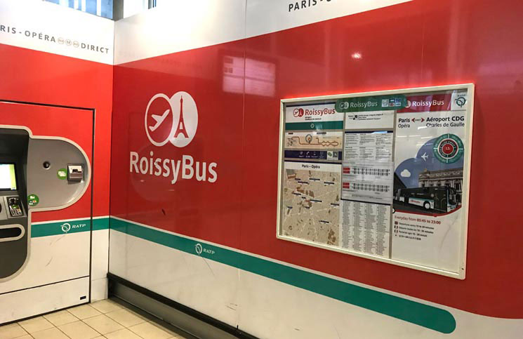 Roissy Bus(ロワシーバス)の待合室