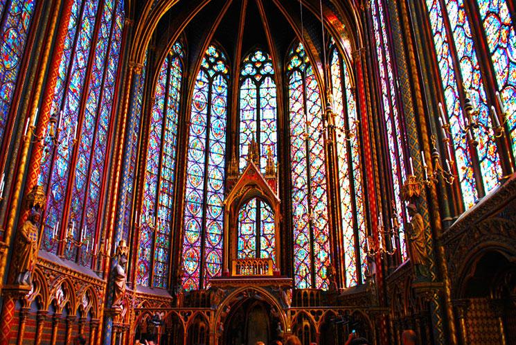 サント・シャペル教会のステンドグラス