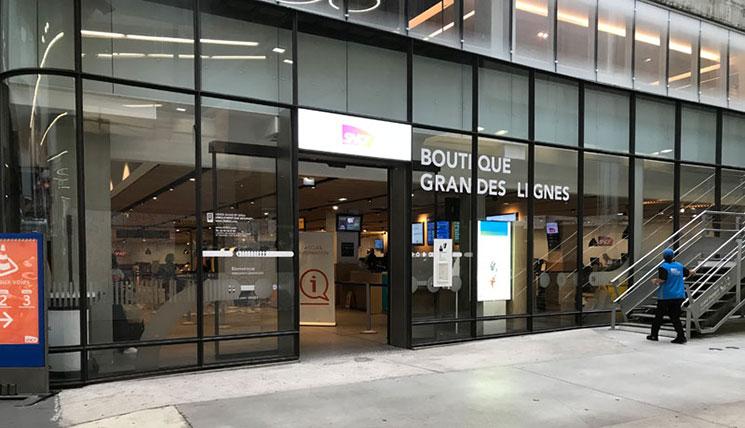 SNCF メインチケット売り場