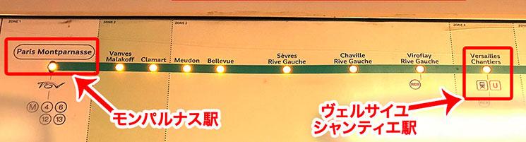 列車の路線図