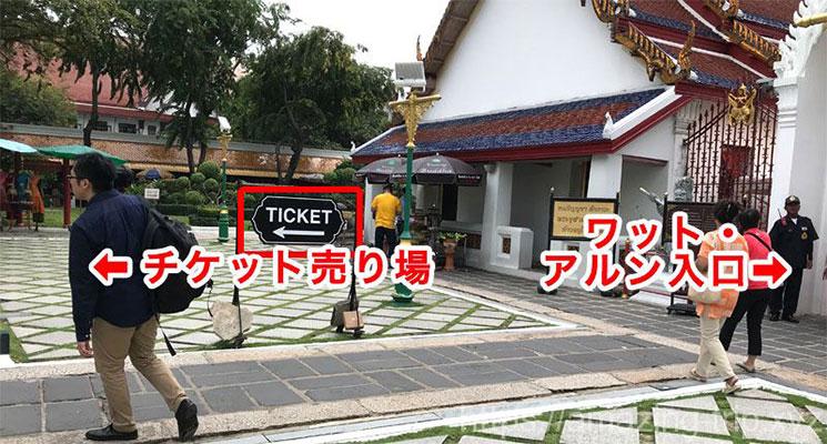 チケット売り場への案内版
