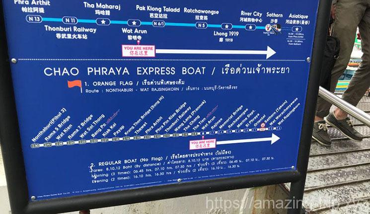 水上バスの路線図