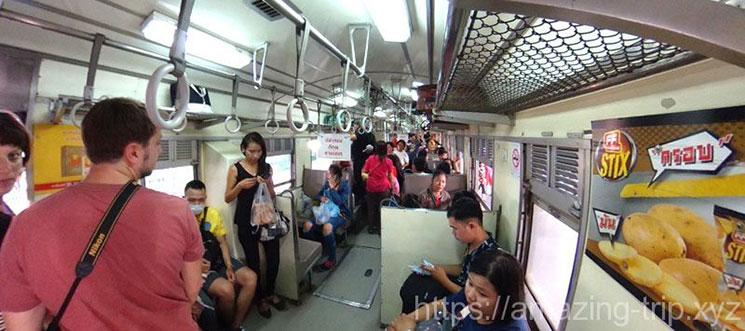 アユタヤ行き列車 車内の景観