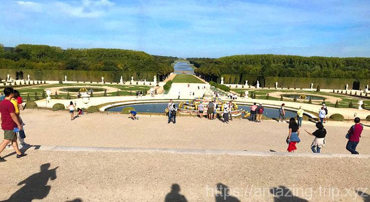 ヴェルサイユ宮殿 庭園の景観