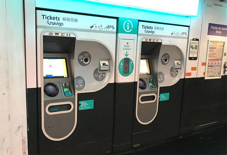 メトロ・RERの自動券売機