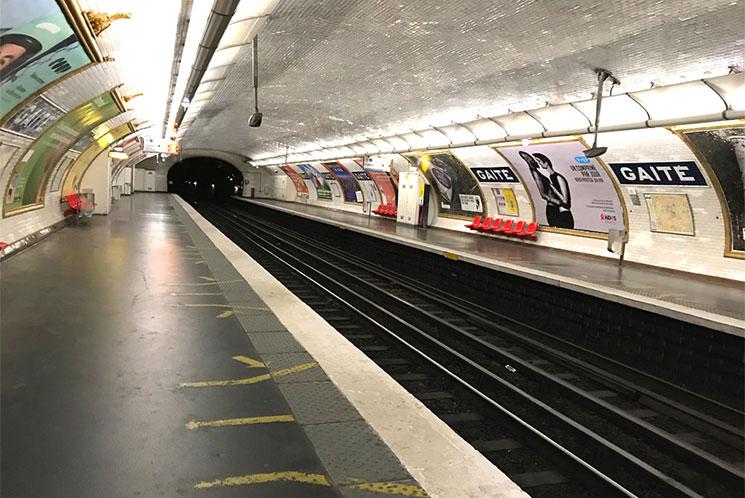 パリ地下鉄の乗車ホーム