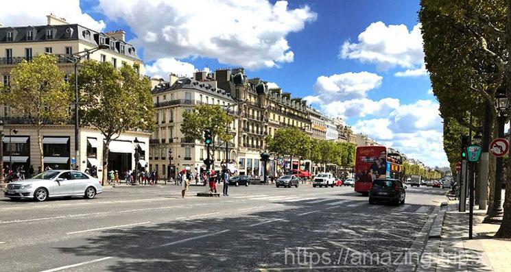 シャンゼリゼ通りの景観