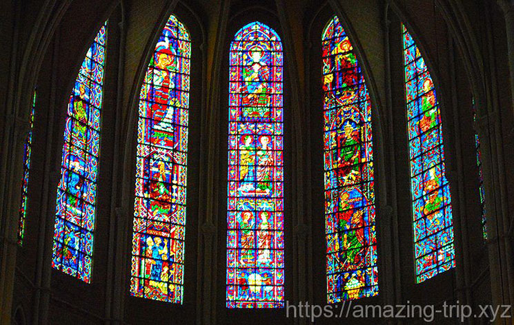 シャルトル大聖堂内の景観