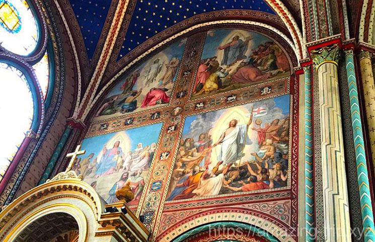教会のフレスコ画