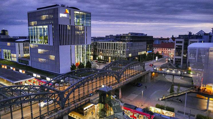 ミュンヘン駅周辺の景観