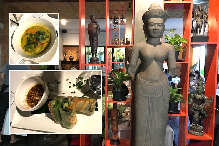 カンボジアのレストラン