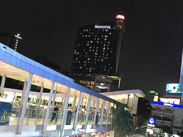 バンコク ノボテルホテルの外観