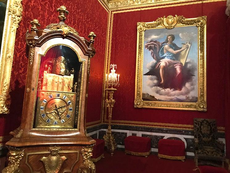 メルクリウスの間のカラクリ時計