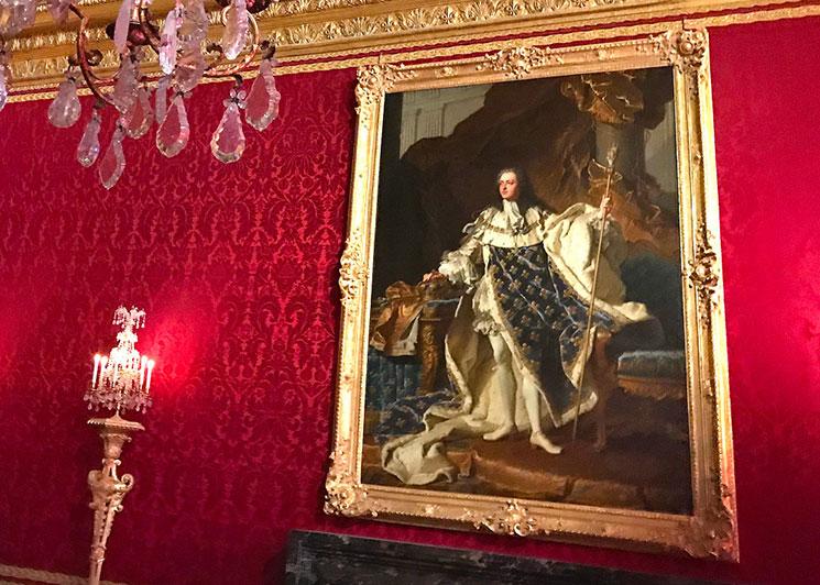 メルクリウスの間 ルイ15世の肖像画