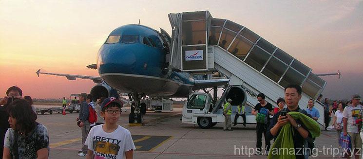 シェムリアップ空港の景観