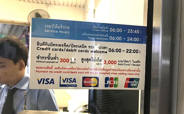 チケットオフィスのクレジットカードの利用案内