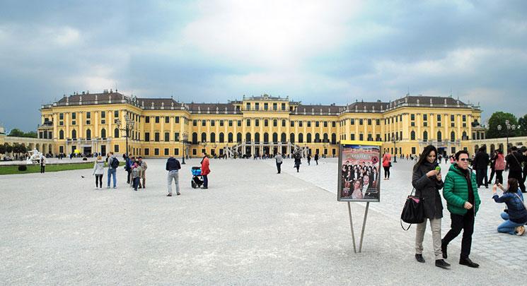 シェーンブルン宮殿の景観