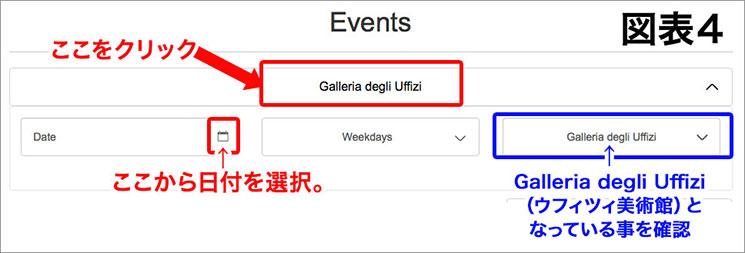 「図表4」日付の選択画面