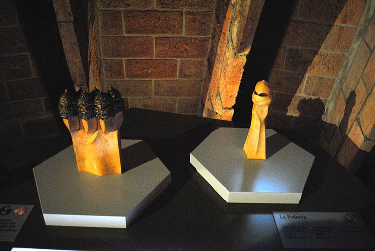 屋根裏の回廊 カサ・ミラ オブジェクトの模型