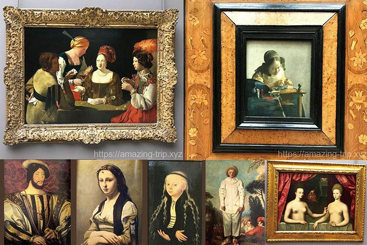 ルーブル美術館 2階の展示作品
