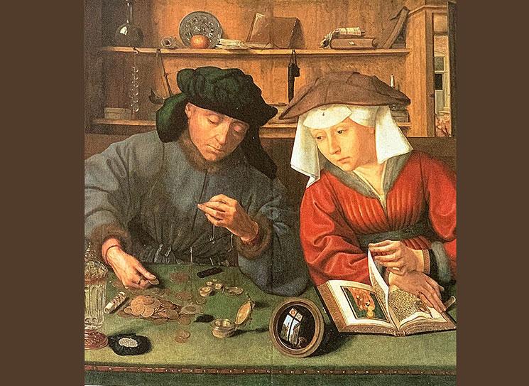 両替商とその妻