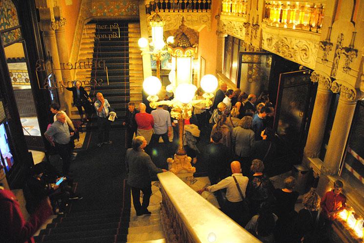 カタルーニャ音楽堂 正面の大階段