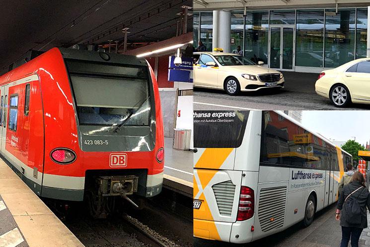 ミュンヘン空港から市内への移動手段
