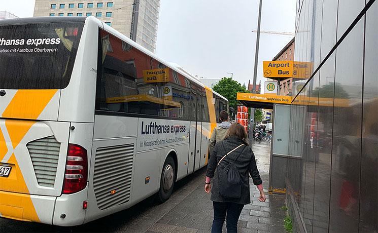ルフトハンザエクスプレスのバス