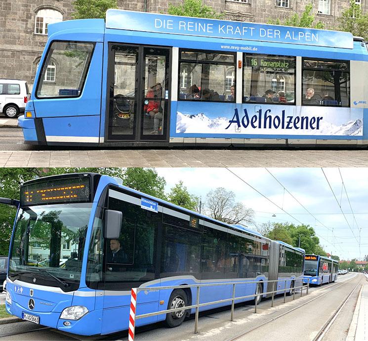 トラムとバス